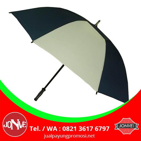 grosir payung standar polos souvenir hitam putih