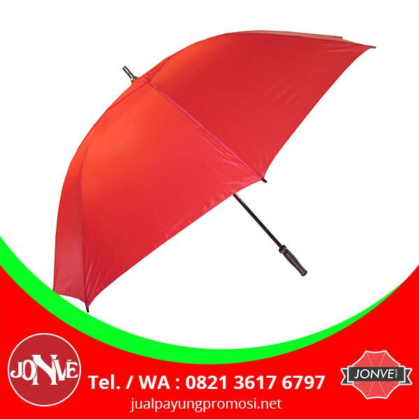 grosir payung golf polos souvenir promosi merah